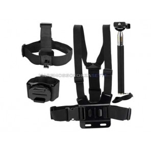 KIT 117 DAZZNE ACCESSORI PER ACTION CAMERA SPORT 8 PEZZI