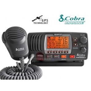 VHF FISSO MARINO COBRA MR F77BLACK EU CON GPS INCORPORATO