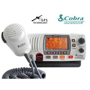 VHF FISSO MARINO COBRA MR F77WHITE EU CON GPS INCORPORATO