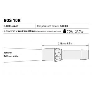 Torcia led subacquea in alluminio Mares EOS 10r ricaricabile