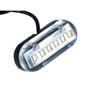 LUCE PLAFONIERA A 6 LED IMPERMEABILE