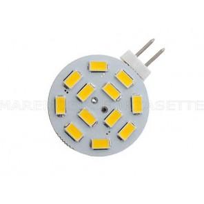 LAMPADINA A LED G4 12V CON 12 SMD LED 250 LUMEN