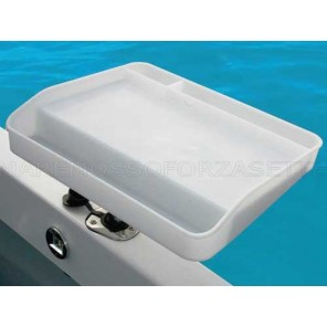 Vassoio porta esche e pulizia del pesce per portacanna