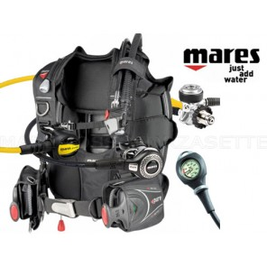 ATTREZZATURA SUBACQUEA MARES JACKET ABYSS DIN MANOMETRO TG LARGE