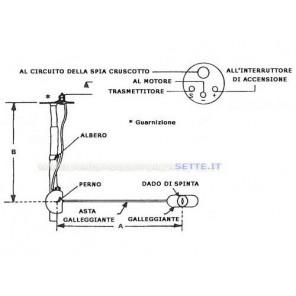 Galleggiante sensore universale per serbatoi 10-180 ohms