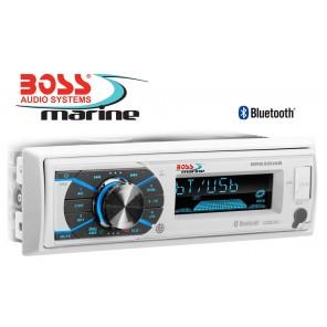 RADIO BARCA STEREO MARINIZZATO BOSS MARINE MR632UAB CON 4 CASSE