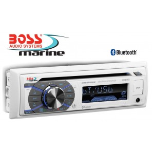 RADIO BARCA STEREO MARINIZZATO BOSS MARINE MR508UABW CD CON 4 CASSE