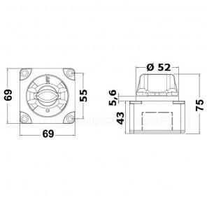 Deviatore stacca batteria per 1 o 2 batterie compatto