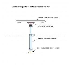 Base per tavolo esterna nuova rade 196163