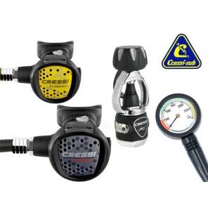 Erogatore subacqueo Cressi Sub MC5 compact int con manometro