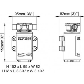 Pompa UP1-J Marco con girante in gomma 28 litri/min 24v