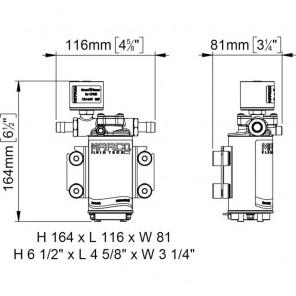 Pompa Marco UP2E 10 Lit/Min autoclave elettronico 12/24 volt dc