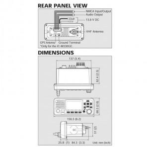 VHF ICOM IC-M330GE NAUTICO CON DSC E ANTENNA GPS