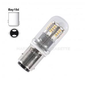 Lampadina a led per luce di fonda 12volt BAY15D