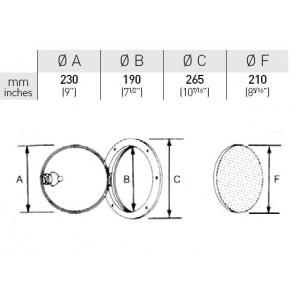 Sportello tondo piccolo diametro 265 mm