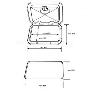 SPORTELLO QUADRO GRANDE SERIE CLASSIC 463x517mm