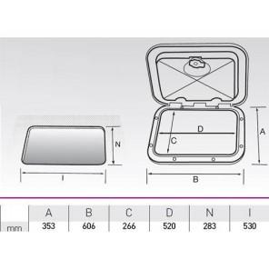 SPORTELLO RETTANGOLARE GRANDE SERIE TOP 606x353mm