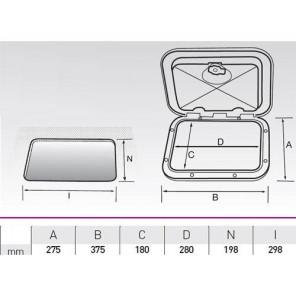 SPORTELLO RETTANGOLARE PICCOLO SERIE CLASSIC 375x275mm