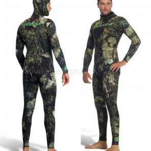 Sporasub Sea Green 3d Muta Neoprene 7mm Mimetica Camu Wetsuit Open Cell