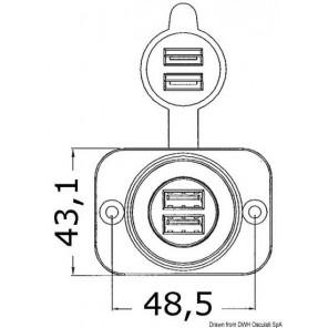 PRESE ACCENDISIGARI IN PVC 12V E USB