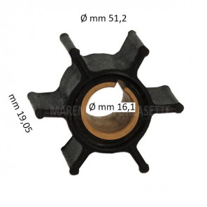 Girante Yamaha Ø 51,2 mm, 6 Pale 6H4-44352-02/00