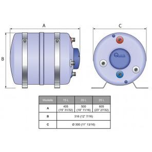 Boiler Nautico Scalda Acqua Quick B3 15 Litri 500w Serbatoio Composito