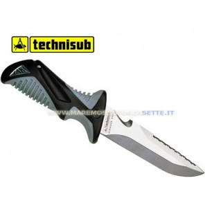 COLTELLO TECHNISUB ZAK 2 BLACK CON FODERO