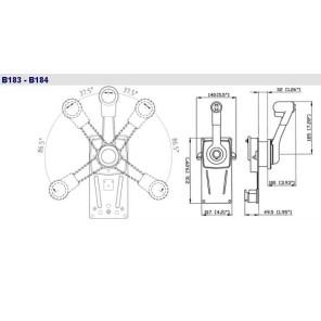 Comando a Paratia B183 Monoleva Ultraflex Per Motore Barca