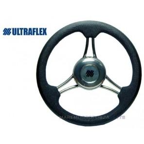 VOLANTE ULTRAFLEX V21B INOX AMAGNETICO IMPUGNATURA NERA