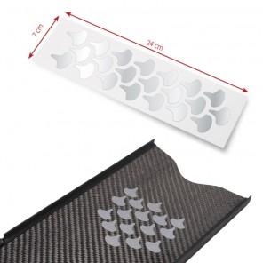 Adesivi Riflettenti Omer Silver Scale Sticker Squame