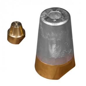 Zinco ogiva conica completa per asse elica tipo Radice