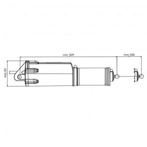 Attuatore per Flap Barca TrimTab Uflex AT12 cod 43160S