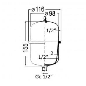 Pompa Autoclave Europump 12,5 L/m con Serbatoio di Espansione Integrato