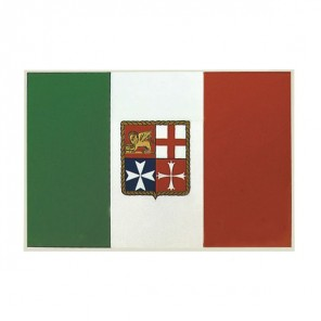 Bandiera Adesiva Italia Marina Mercantile