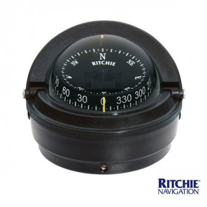 Bussola Barca Ritchie Serie Voyager S87 mm 76 Nera
