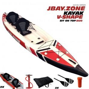 Canoa Gonfiabile Kayak in Drop-Stitch Jbay.zone V-Shape Duo