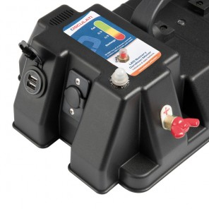 Cassetta porta batteria power center De Luxe con USB mm 421x245x309