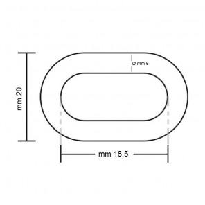 Catena Inox per Salpa Ancora Ø 6 mm 50 metri