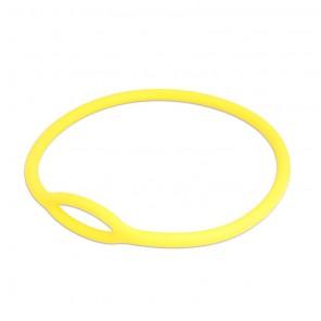 Collare tecnico per erogatore in gomma piena colore giallo