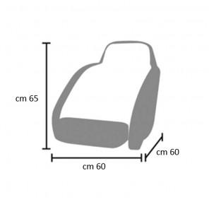 Telo Copri Sedile Monoposto cm 60x60 e 65 di altezza