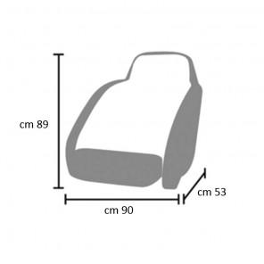 Telo Copri Sedile Biposto cm 53x90 e 89 di altezza