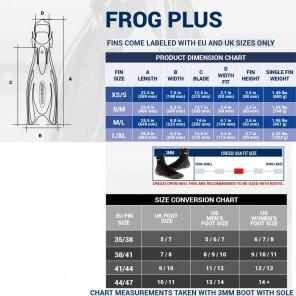 Pinne Cressi Sub Frog Plus Nera Con Lacciolo