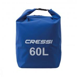 Dry Bag 60 Litri Cressi Sub Sacca Impermeabile a Zaino BLU