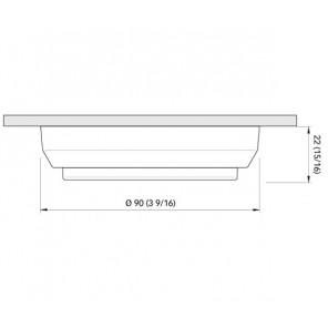PLAFONIERA QUICK TIM CS 2W IP40 LED BIANCO NATURALE 90mm CON INTERRUTTORE