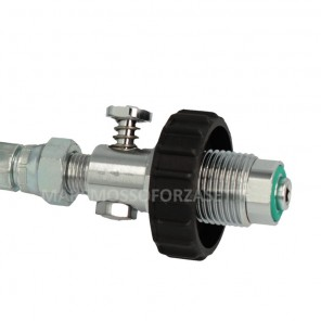 Frusta per compressore ricarica bombole con rubinetto Din 300 Bar