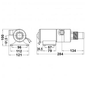 Maceratore Pompa per WC 12V Autoadescante 45LT/min