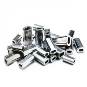 Manicotti in alluminio per sagola fucile Sleeve 20 pz Ø max 1,70