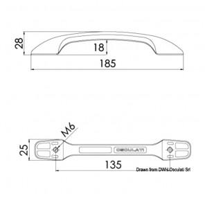 Maniglia in Acciaio Inox cm 18,5 aerodinamica