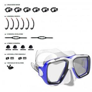 Maschera Mares Rover CLEAR set 6 pezzi con accessori
