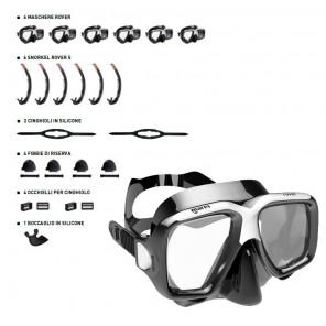 Maschera Mares Rover NERA set 6 pezzi con accessori